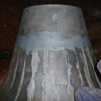 Płyty stalowe przyspojone w miejscach uszkodzeń z użyciem materiału firmy Belzona