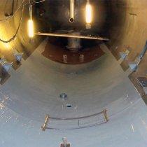 Zbiornik procesowy zabezpieczony przed korozją materiałem Belzona 1391T