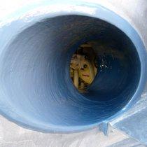 Odbudowa rury wydechowej z użyciem materiału Belzona 1511 (Super HT-Metal) i zabezpieczenie przed korozją przy pomocy powłoki
