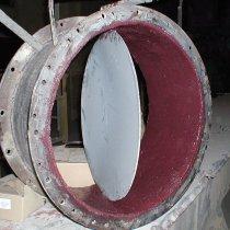 Zawór zabezpieczony materiałem Belzona 1811 (Ceramic Carbide)