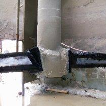 Łopata naprawiona i pokryta powłoką Belzona 2131 (D&A Fluid Elastomer)