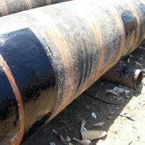 Wąż pływający naprawiony z użyciem materiału Belzona 2131 (D&A Fluid Elastomer)