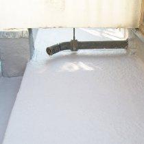 Dach zabezpieczony bezspoinową warstwą materiału Belzona 3111 (Flexible Membrane)
