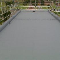 Materiał Belzona 3111 (Flexible Membrane) zastosowany do zabezpieczenia dachu budynku