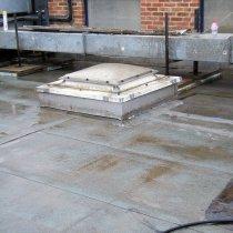 Połać dachu przed zastosowaniem materiału Belzona 3131 (WG Membrane)