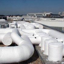 Osłony złożonych elementów rurowych wyposażenia HVAC