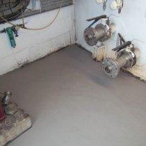Powierzchnia podłogi odbudowana z użyciem materiału Belzona 4131 (Magma-Screed)