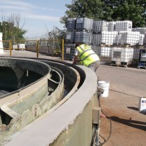 Odbudowa powierzchni betonowych z użyciem materiału Belzona 4131 (Magma-Screed)