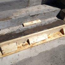 Odbudowa stopni z użyciem produktu 4154 i pozyskanego lokalnie kruszywa