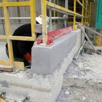 Ściana odbudowana z użyciem produktu Belzona 4154 oraz produktu Belzona 4111 w roli warstwy wierzchniej