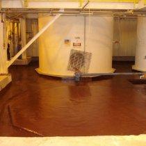 Powłoka strefy bezpiecznego przechowywania kwasu siarkowego o stężeniu 98%
