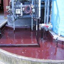 Strefa bezpiecznego przechowywania substancji chemicznych z powłoką Belzona 4331