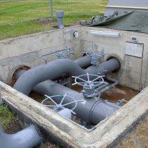 Zakończona naprawa rury wody zwrotnej z użyciem materiału Belzona 5841