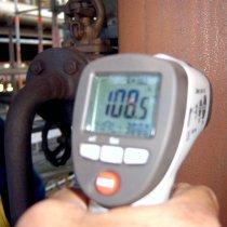 Pomiar temperatury rury gorącej
