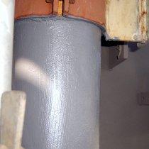 Zakończona aplikacja powłoki Belzona 5851 (HA-Barrier) zapewniającej trwałe zabezpieczenie metalu przed korozją bez zakłócenia eksploatacji