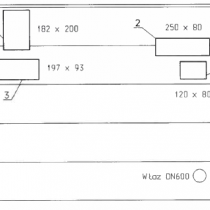 Rys.2. Rzut planu rozmieszczenia arkuszy systemu BelzonaSWII - 4 pola z 16